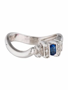 Other Estate 18k White Gold Sapphire And Diamond Ring