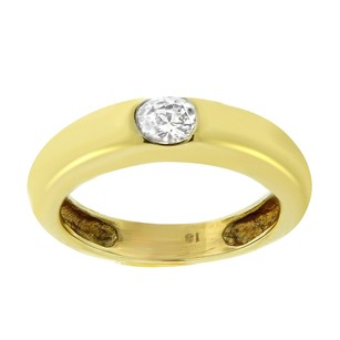 Other Estate 18k Yellow Gold Diamond Solitaire Ring