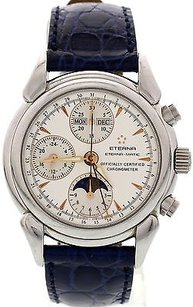 Eterna Matic 1948 Moonphase Triple Date Stainless Steel Watch 8515.41