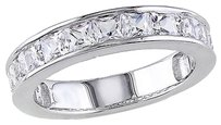 2 38 Ct Tgw White Sapphire Fashion Ring In Sterling Silver