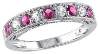 45 Ct Tgw Pink And White Sapphire Fashion Ring In Sterling Silver