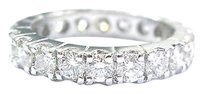 Fine Round Cut Diamond 20-stone White Gold Eternity Band Sz 6 1.80ct