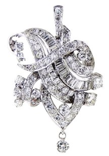 Other Extravagant Vintage Platinum Diamond Pendant
