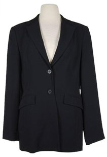 Other F Carriere Womens Black Solid Blazer Long Sleeve Polyester Two Button