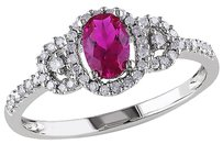 Other 10k White Gold 16 Ct Diamond Tw And 34 Ct Tgw Ruby Fashion Ring Gh I2i3