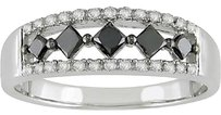 Other Amour 10k Gold 0.5 Ct Tdw Black And White Diamond Ring H-i I2-i3