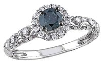 14k White Gold 12 Ct Blue And White Diamond Tw Fashion Ring Gh I2-i3