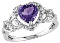 Other Sterling Silver 110 Ct Diamond 1 110 Ct Amethyst-brasil Fashion Ring