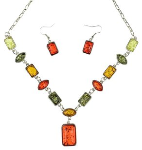 Style & Co Style & Co, Amber Statement Necklace & Earrings Set