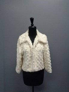 Other Cejon Accessories Textured Sweater Acrylic Blend Sm1908 Ivory Jacket