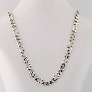 Figaro Chain Necklace 21 34 - Sterling Silver Mens Lobster Claw Clasp