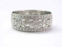 Other Fine Diamond Designer Wide Jewelry Band Ring Wg .55ct