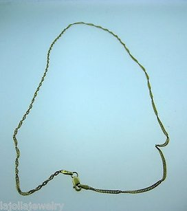Fine Estate 14k Yellow Gold Chain Necklace