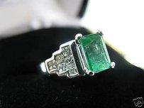 Fine 18kt Green Colombian Diamond Ring Wg 2.33ct