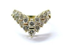 Other Fine 2-row Round Cut Diamond Wrap Yellow Gold Jewelry Ring 1.16ct