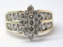 Other Fine Cluster Diamond Yellow Gold Jewelry Ring Yg 1.96ct