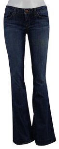 Other People Liberation Janine Womens Med Wash Pants Cotton Flare Leg Jeans