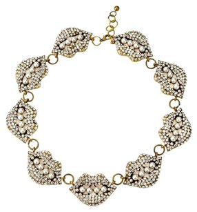 Other FLASH SALE!!! Statement Necklace in Pearl & Crystal Lips