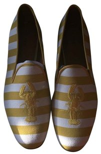 Coach Cream and Gold / white and yellow Flats