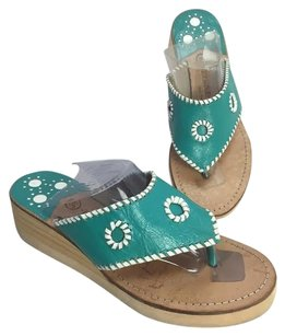 Berne Mev White Turquoise Sandals