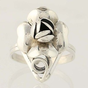 Flower Blossom Ring - Sterling Silver Womens 12 Adjustable
