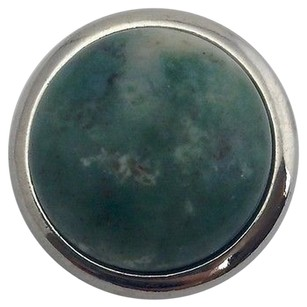 Ginger Snaps Moss Quartz A Green Gemstone Sn29-05 Silver Plated