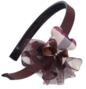 Other Girls high fashion headband with check tulle bear