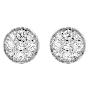 Other Glk 18k White Gold 1.05ct Diamond Round Stud Earrings