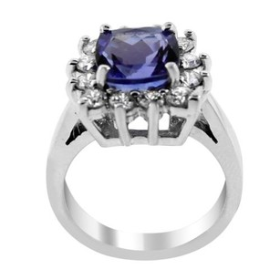 Other Glk Platinum 0.70ct Diamond And Tanzanite Ring