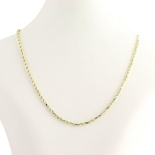 Other Gold Rope Chain Necklace 28 - 10k Yellow Gold Lobster Claw Clasp Womens