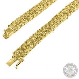 Golden Canary Lab Diamond Yellow Gold Finish Mens Iced Micro Prong Tennis Chain