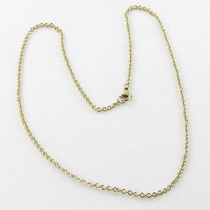 Other Heather B Moore Oval Link Charm Necklace Chain 2mm 17 14k Yellow Gold