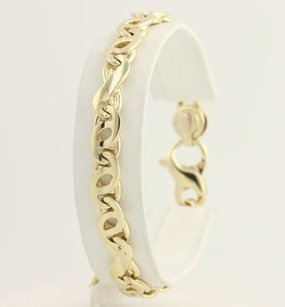 Other Italian Modified Chain Bracelet 34 - 14k Yellow Gold Womens Fine Gift