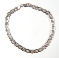 Italian Sterling Silver 925 Chain Mariner Link Bracelet Italy 9