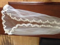 Ivory Veil Lace Around The Edge With Comb