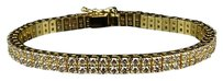 Other Mens Row Yellow Gold Prong Solid Tennis Diamond Bracelet 10.75 Ct Inch
