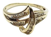 Ladies 10kt Yellow Gold Diamond Cluster Ring Apx .34ctw Max064973