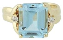 Other Blue Topaz Diamond Ring - 14k Yellow Gold Womens 8.08ctw