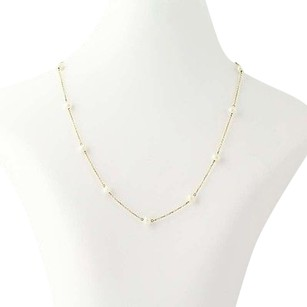 Freshwater Pearl Necklace 15 34 - 14k Yellow Gold Cable Chain June