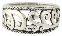 Other Scroll Ring - Sterling Silver Open Cut Womens 12