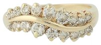 Other Curved Diamond Ring - 14k Yellow Gold April Birthstone .80ctw