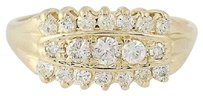 Other Diamond Ring - 14k Yellow Gold 12 Womens Round Cut .60ctw
