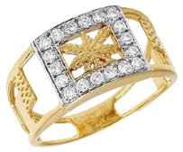 Other 10k Yellow Gold Genuine Diamond Marijuana Leaf Mens Custom Ring .50ct 11mm