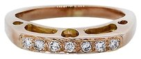 18k Rose Gold Round Diamonds Stackable Ring