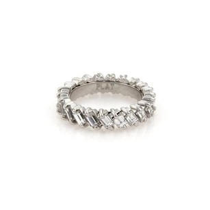 Other Estate 2.65ct Baquette Diamond Platinum Eternity Wedding Band Ring 5.25