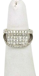 Other 18kt White Gold 2.15ctw Round Princess Cut Invisible Set Diamond Ladies Ring
