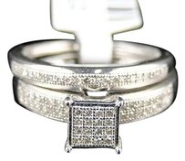 Ladies,White,Gold,Finish,Pave,Round,Cut,Engagement,Wedding,Diamond,Ring,Band