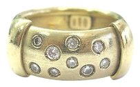 18kt,Round,Cut,Diamond,Wide,Yellow,Gold,Bezel,Set,Band,Ring,.35ct