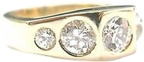 Fine Old European Cut Diamond 5-stone Jewelry Ring Yg 2.20ct