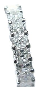 Platinum,Radiant,Diamond,Eternity,Jewelry,Band,Ring,4.16ct,Sz,6